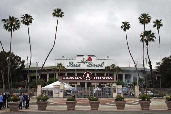 Le Stade Rose Bowl en mai 2017, à Pasadena, en Californie. (AP Photo/Jae C. Hong)