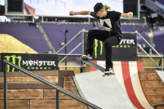 Alex Majerus aux X Games, le 15 juillet 2017, à Minneapolis. (Aaron Lavinsky/Star Tribune via AP)