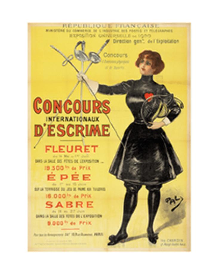 L'affiche officielle des Jeux de Paris 1900.