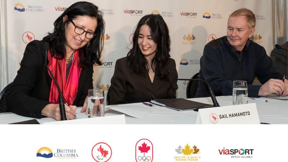 Des leaders du sport signent une entente historique pour la Colombie-Britannique