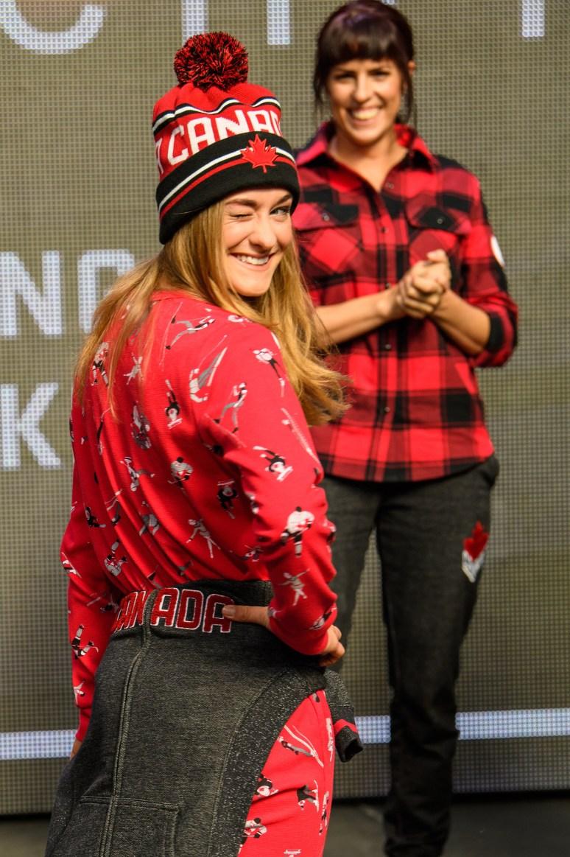 Taylor Henrich lors du dévoilement de la collection d'Équipe Canada pour PyeongChang 2018, à Toronto, le 3 octobre 2017. (Photo : COC)