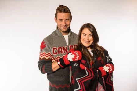 Patrick Langlois et Roseline Filion lors du dévoilement de la collection d'Équipe Canada pour PyeongChang 2018, à Toronto, le 3 octobre 2017. (Photo : COC)