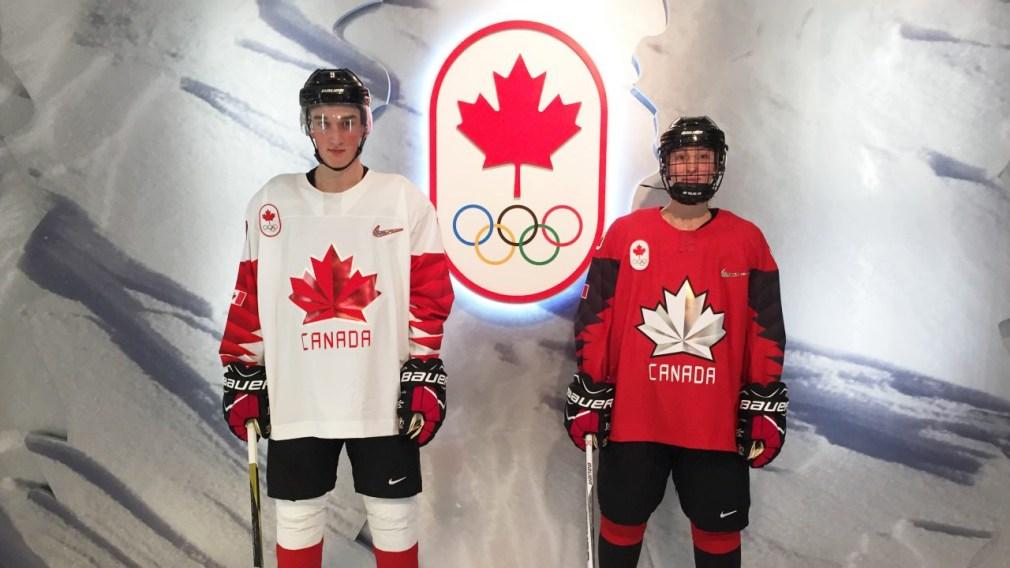 Les chandails de hockey d'Équipe Canada dévoilés à 100 jours de PyeongChang 2018