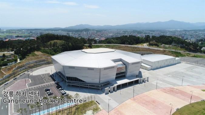 Le centre de hockey de Gangneung sera le principal site des tournois de hockey sur glace. (Pyeongchang2018/Facebook)