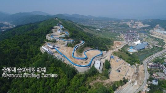 Le centre olympique de glisse accueillera les épreuves de luge, de skeleton et de bobsleigh. (PyeongChang2018/Facebook)
