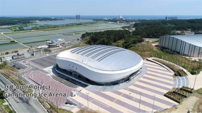 Le centre des glaces sera l'hôte des épreuves de patinage artistique et de patinage de vitesse sur courte piste. (pyeongchang2018/Facebook)
