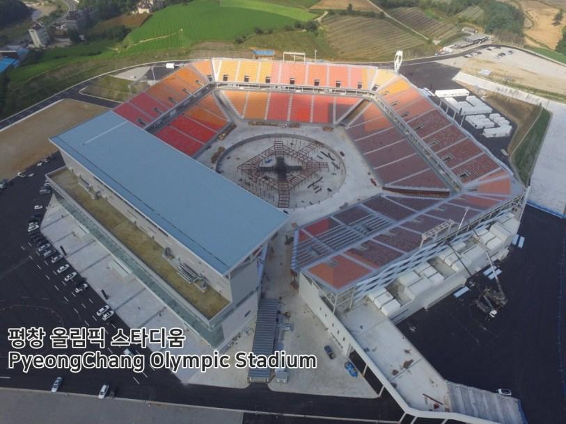 Le stade olympique de PyeongChang pourra accueillir 35 000 spectateurs pour les cérémonies d'ouverture et de clôture.(pyeongchang2018/Facebook)