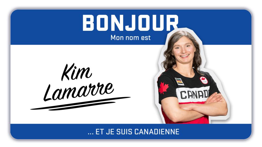 Bonjour, mon nom est Kim Lamarre et je skie