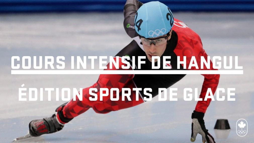 Cours intensif de hangul: les sports de glace