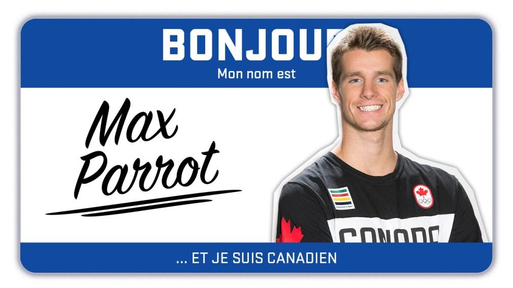 Bonjour, mon nom est Max Parrot et je fais du snowboard