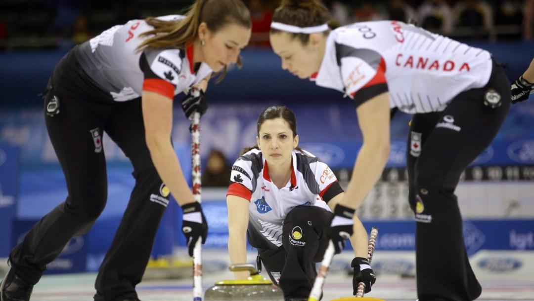 Equipe Canada - Lisa Weagle, Emma Miskew, Joanne Courtney - curling féminin - Mondiaux 2017
