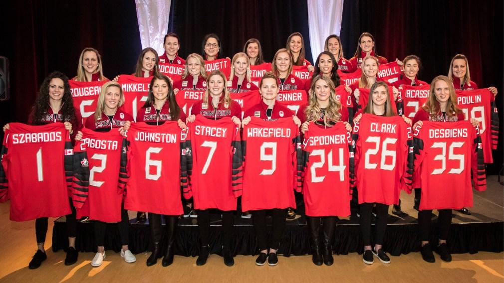 Annonce de la composition de l'équipe féminine de hockey du Canada pour les Jeux olympiques d'hiver de 2018