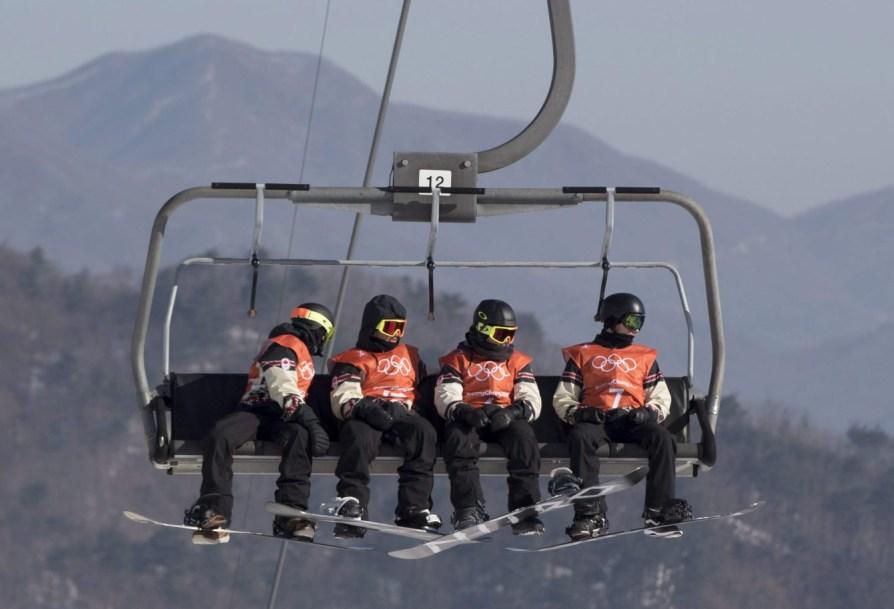 Equipe Canada-Snowboard-Slopestyle-Mark McMorris-Tyler Nicholson-Sebastien Toutant-Max Parrot-pyeongchang 2018