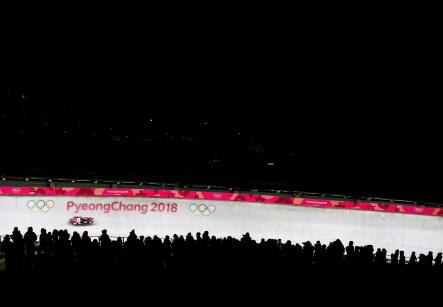 Brooke Apshkrum du Canada lors de la première descende des femmes en simple le 12 février 2018, aux Jeux olympiques d'hiver de PyeongChang. (Photo: HE CANADIAN PRESS/Nathan Denette)