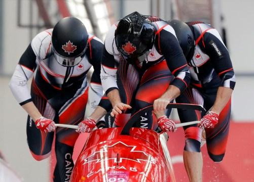 Equipe Canada-Bobsleigh-Justin Kripps-Jesse Lumsden-Alexander Kopacz-Oluseyi Smith-Pyeongchang 2018
