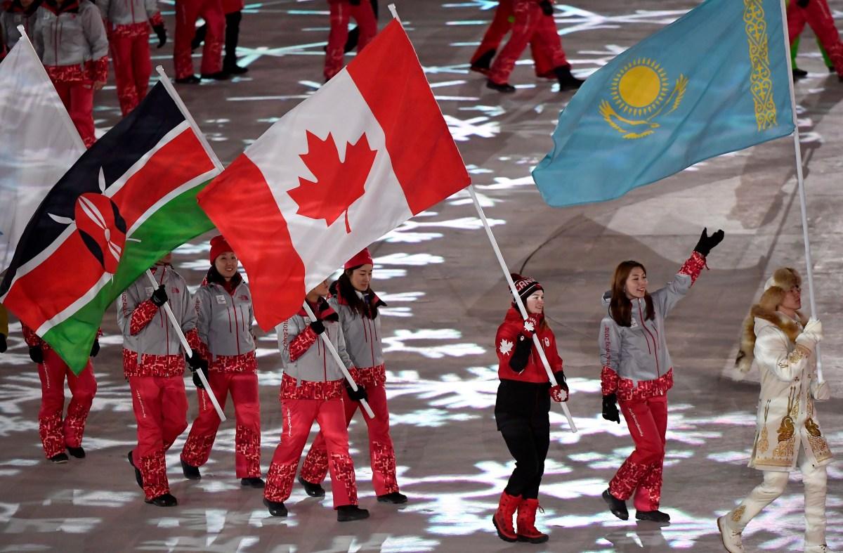 Equipe Canada-Ceremonie de cloture-kim boutin-pyeongchang 2018