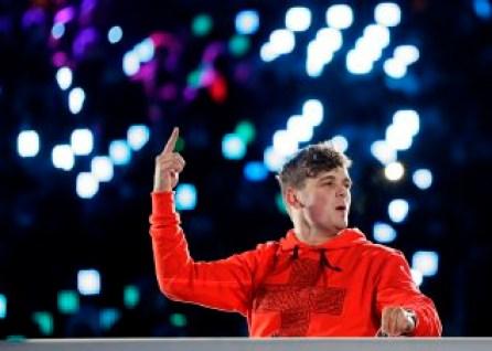 DJ Martin Garrix a offert une prestation à la cérémonie de clôture.(AP Photo/Kirsty Wigglesworth)