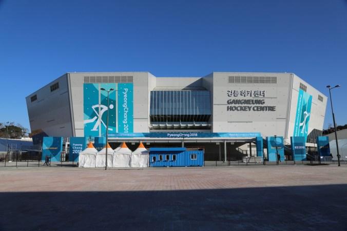 Le Centre de hockey de Gangneung accueillera l'aréna principal pour les tournois de hockey sur glace masculin et féminin à PyeongChang 2018.
