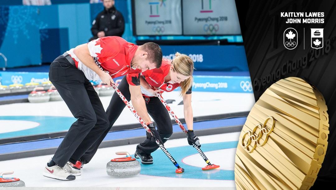Kaitlyn Lawes et John Morris - Médaille d'or - PyeongChang 2018 - Équipe Canada