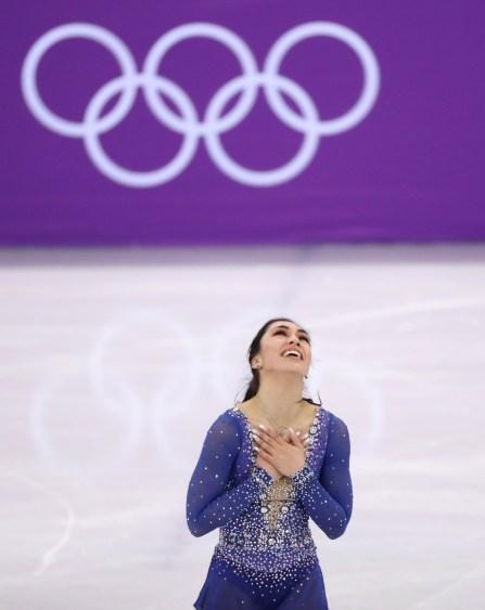 Gabrielle Daleman d'Équipe Canada en compétition à l'aréna Gagneung aux Jeux olympiques d'hiver de PyeongChang, le 12 février 2018. (Photo David Jackson/COC)