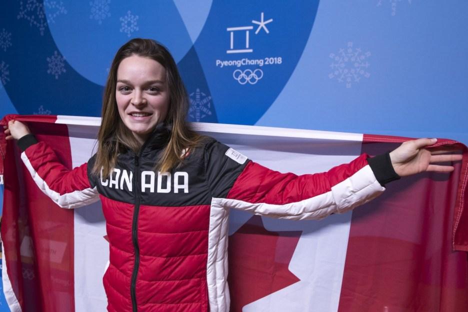 La patineuse de vitesse sur courte piste Kim Boutin est nommée porte-drapeau pour la fin des Jeux. COC – David Jackson
