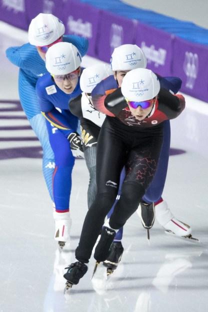 Keri Morrison patine lors de la demi-finale en départ groupé. COC – David Jackson