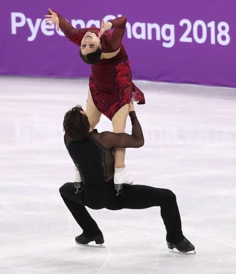 Tessa Virtue et Scott Moir preferment leur routine de danse sur glace le 12 février 2018 aux Jeux olympiques de PyeongChang. (Photo: David Jackson/COC)