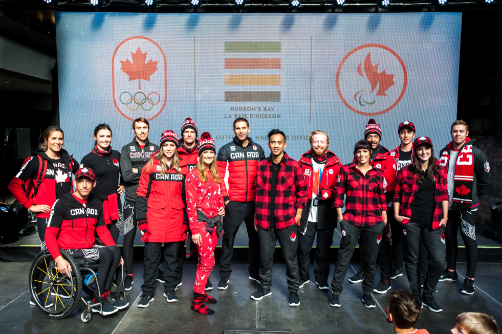 La collection officielle d'Équipe Canada par la Baie d'Hudson pour PyeongChang 2018 (Photo: Adam Pulicicchio)