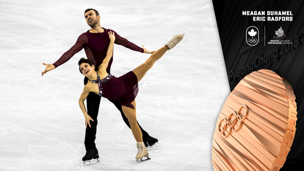 Meagan Duhamel et Eric Radford - Médaille de bronze - PyeongChang 2018 - Équipe Canada