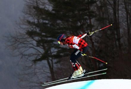 India Sherret lors des qualifications pour l'épreuve féminine de ski cross, le 22 février 2018. Photo COC/Vaughn Ridley