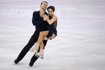 Eric Radford et Meagan Duhamel lors du programme court de l'épreuve par équipes aux Jeux olympiques de PyeongChang, le 12 février 2018. (Photo: Jason Ransom/COC)