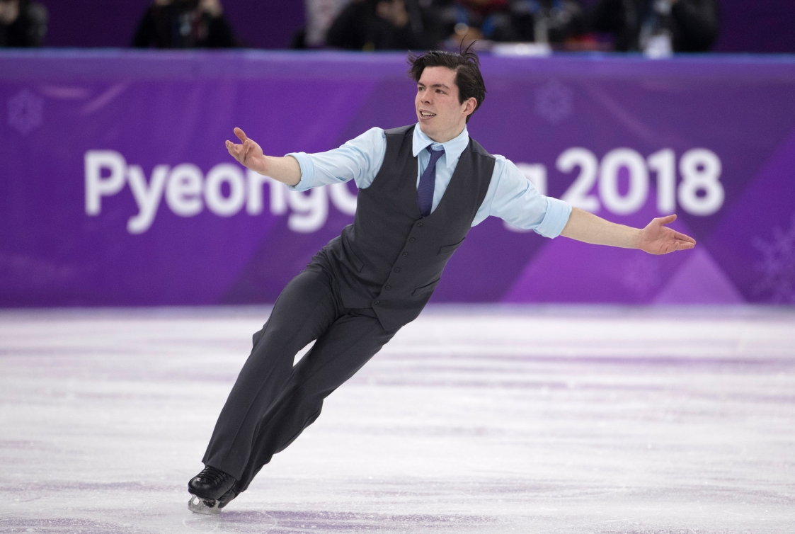 Keegan Messing présente son programme court lors des qualifications en patinage artistique. LA PRESSE CANADIENNE/HO - COC – Jason Ransom