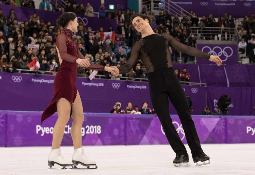 Tessa Virtue et Scott Moir patinent vers l'or en danse sur glace aux PyeongChang 2018. THE CANADIAN PRESS/HO - COC – Jason Ransom
