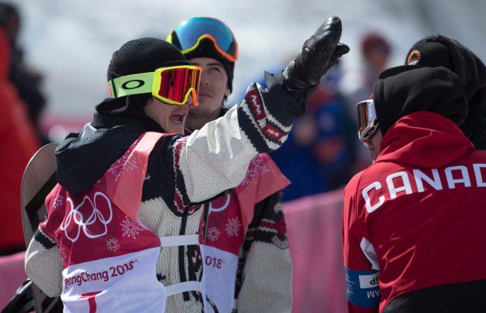 Sébastien Toutant et Mark McMorris. Photo COC/Jason Ransom