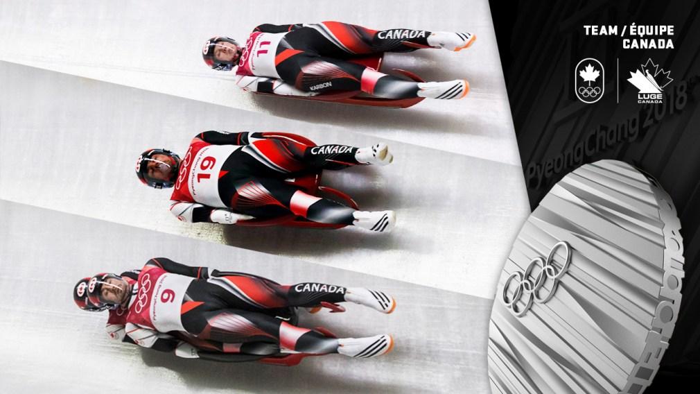 Alex Gough, Samuel Edney, Tristan Walker et Justin Snith - Médaille d'argent - PyeongChang 2018 - Équipe Canada