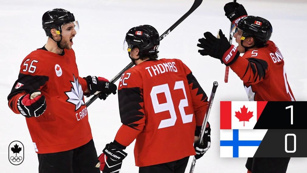 Équipe Canada obtient son billet pour la demi-finale du tournoi de hockey masculin