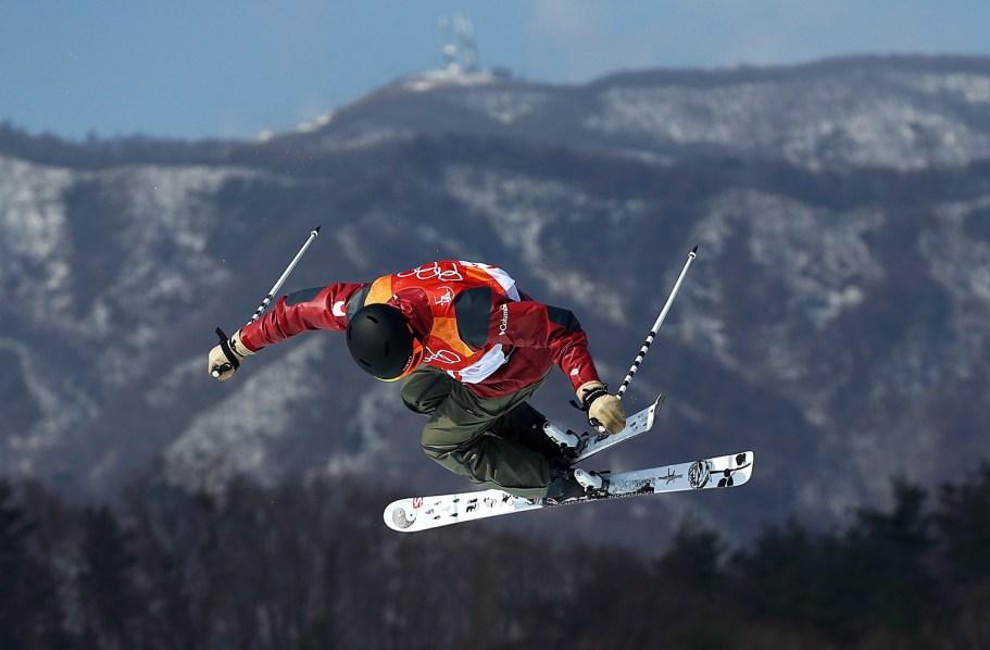 Noah Bowman lors de la finale de ski demi-lune, le 22 février 2018. Photo COC/Vaughn Ridley