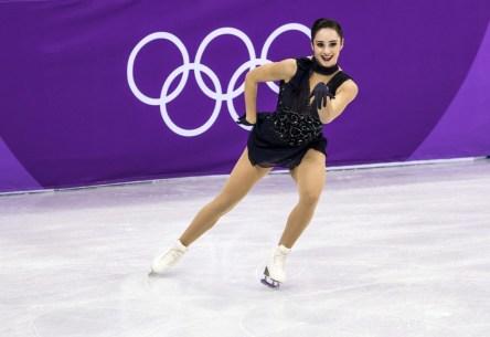 Kaetlyn Osmond pendant le programme court féminin de l'épreuve par équipes aux Jeux olympiques de PyeongChang 2018, le 11 février 2018 à Gangneung, en Corée de Sud. (Photo: Stephen Hosier)