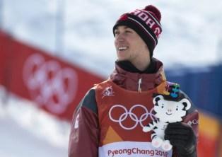 Alex Beaulieu-Marchand a remporté le bronze en ski slopestyle, à PyeongChang. (Photo/David Jackson)