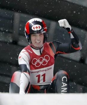 Alex Gough est fière de sa performance en luge aux Jeux olympiques de PyeongChang 2018.