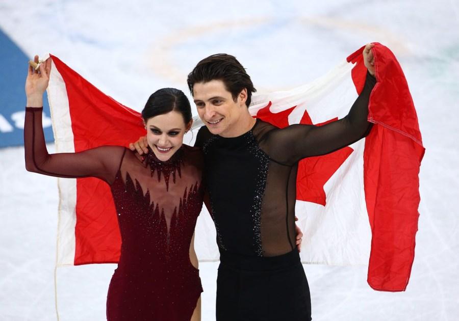 Tessa Virtue et Scott Moir gagnent l'or en danse sur glace aux Jeux olympiques de PyeongChang, le 20 février 2018. Photo COC/Vaughn Ridley