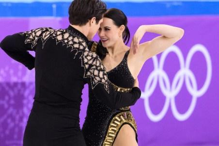 Tessa Virtue et Scott Moir lors de l'épreuve par équipes - programme court aux Jeux olympiques d'hiver de PyeongChang 2018 le 11 février 2018. (Photo Vincent Ethier/COC)