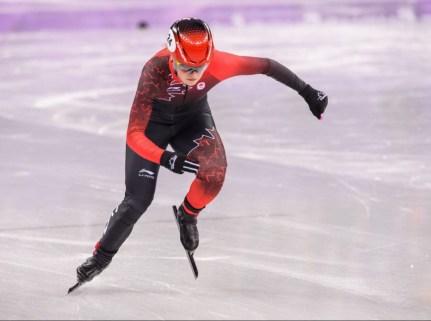 Kim Boutin en action lors des quarts de finale au 1000 m. (Photo par Vincent Ethier/COC)