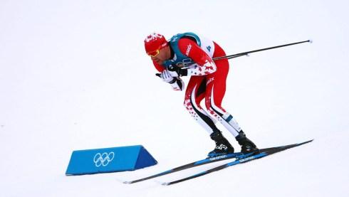 Le Canadien Alex Harvey à l'épreuve masculine de skiathlon de 15km + 15km durant les Jeux olympiques d'hiver de PyeongChang2018, en Corée du Sud, le 11février 2018. (Photo: Vaughn Ridley/COC)