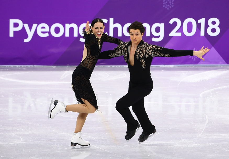 Tessa Virtue et Scott Moir en action au cours du Jour 10. COC Photo par Vaughn Ridley