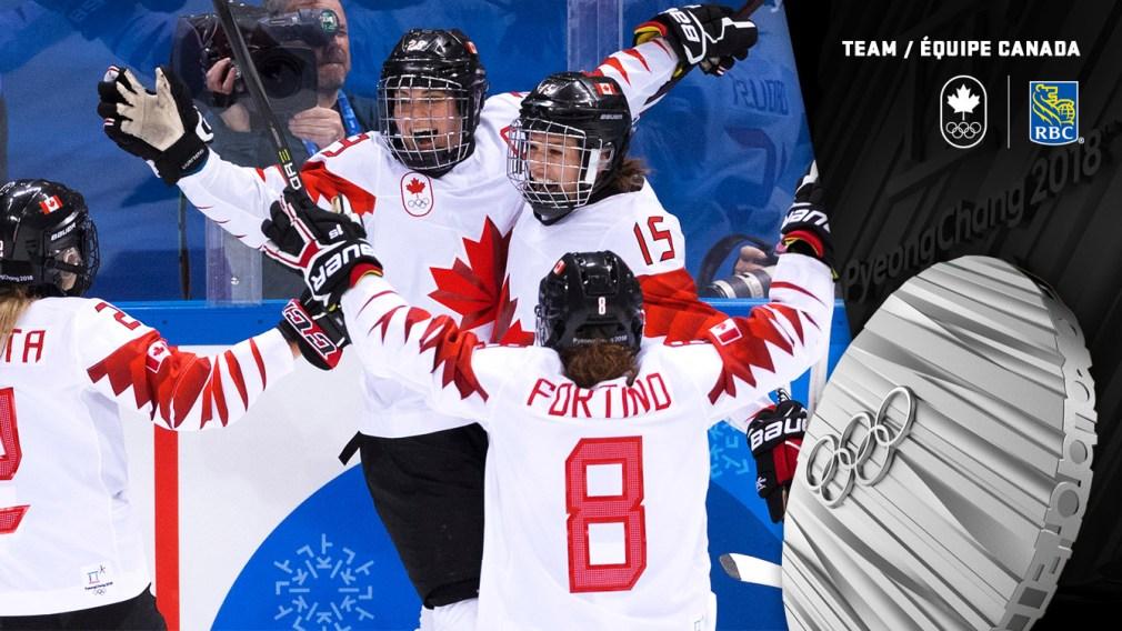 Médaille d'argent en hockey féminin - PyeongChang 2018 - Équipe Canada