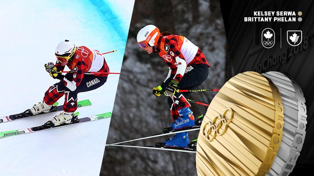 Kelsey Serwa et Brittany Phelan - Médailles d'or et d'argent à PyeongChang 2018 - Équipe Canada
