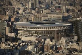 Vue aérienne du stade olympique de Tokyo 2020