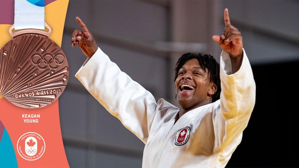 Young s'empare du bronze en judo: Une première médaille pour Équipe Canada