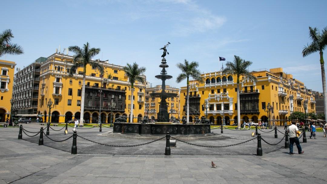 Centro de Lima , plaza mayor.